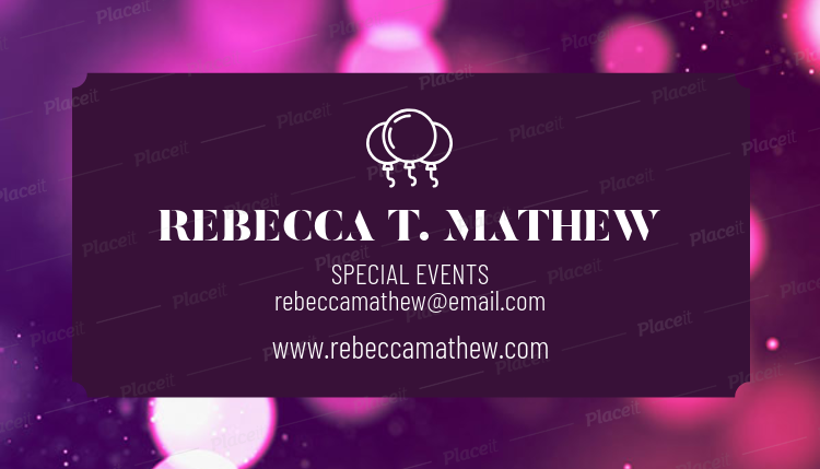 Placeit Special Events Planner Business Card Template