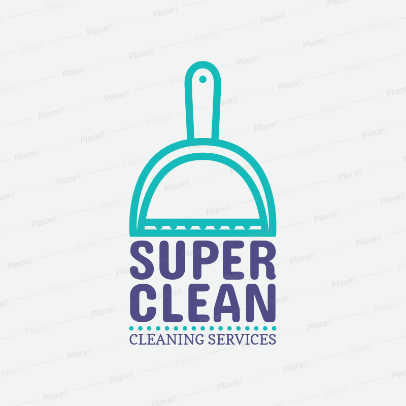 Dust Pan Graphic Logo Template For Cleaning Services 1451bForeground Image
