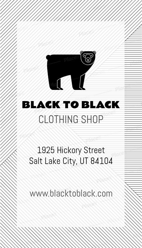 Placeit Hipster Clothing Brand Business Card Maker