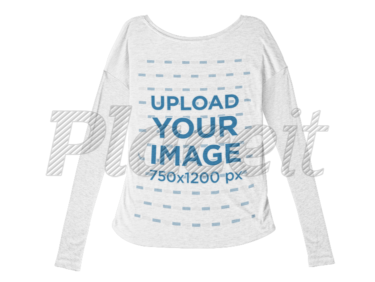 Bella Flowie Long Sleeve Tee Mockup Lying Against A Transparent Background A9810bForeground Image