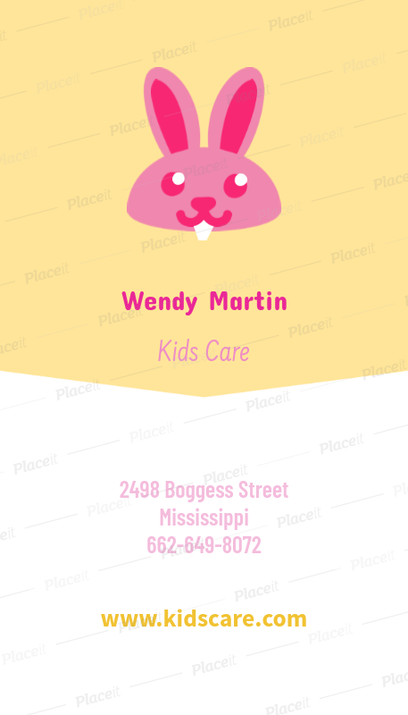 babysitting business card maker with vertical format 354cforeground image