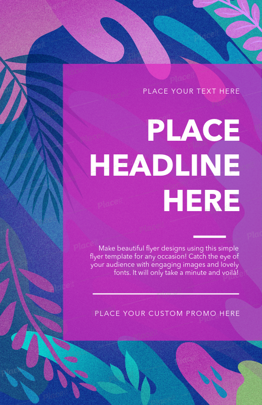 placeit basic flyer design template for artsy flyers