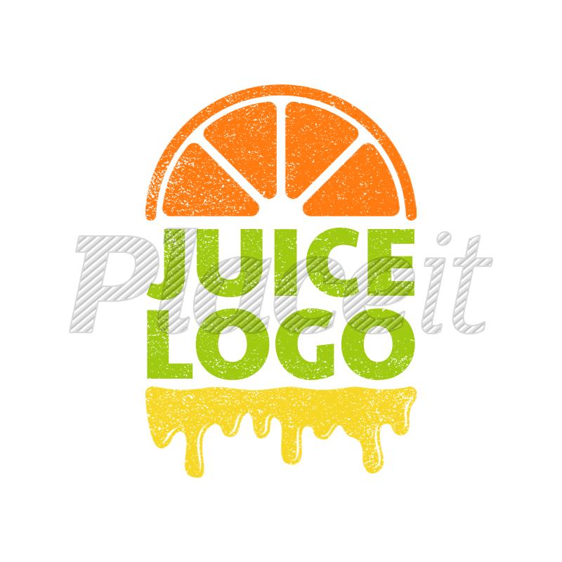 Juice Bar Logo Maker with Orange Clipart 1024e