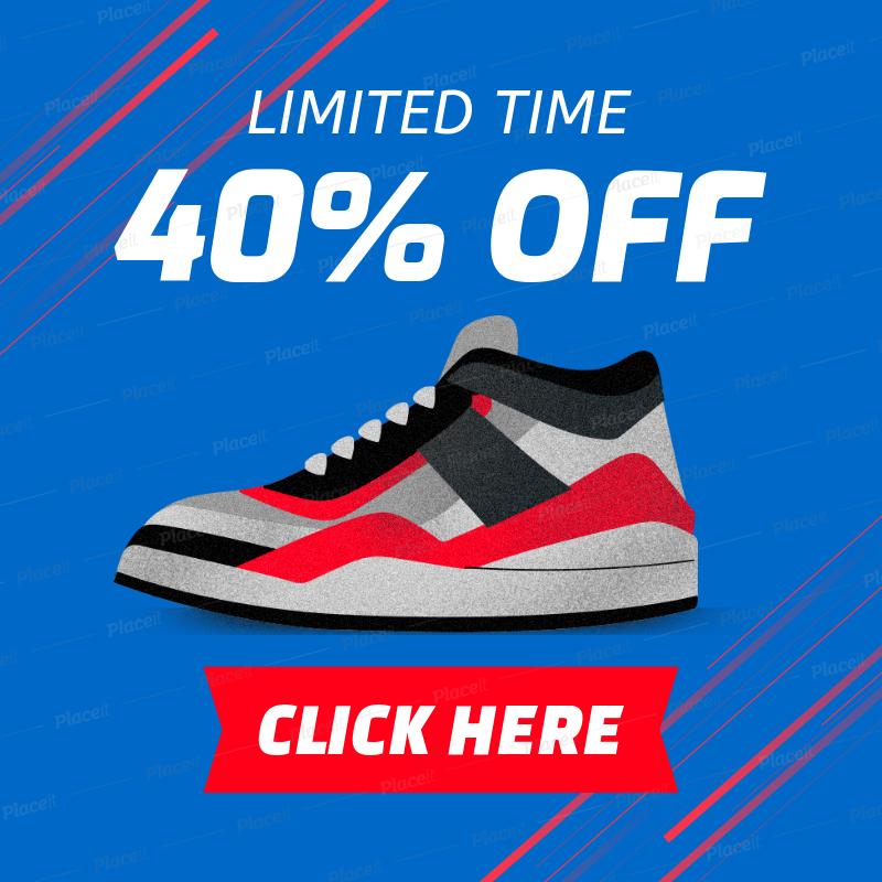 premium selection 9d7e8 92197 Online Banner Generator for a Sneaker Sale 538b