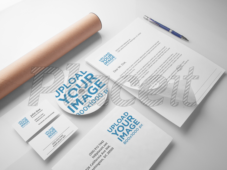 Branding And Visual Identity Mockup Template A6301Foreground Image