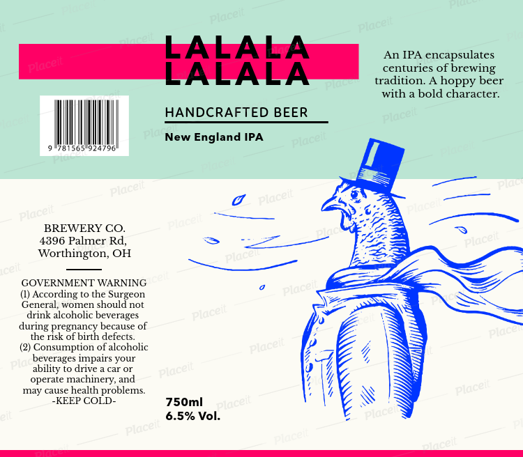 Beer Label Template For A Cool Craft 763Foreground Image
