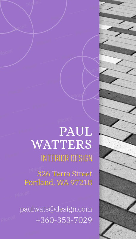 vertical business card maker for interior designers a312foreground image