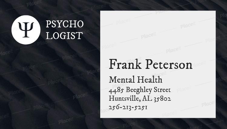 Placeit Mental Health Business Card Maker