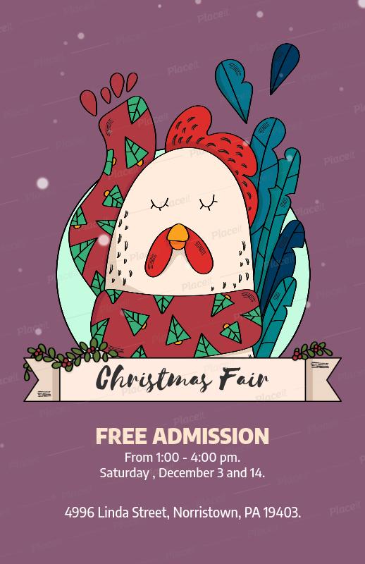 Placeit Christmas Fair Flyer Template