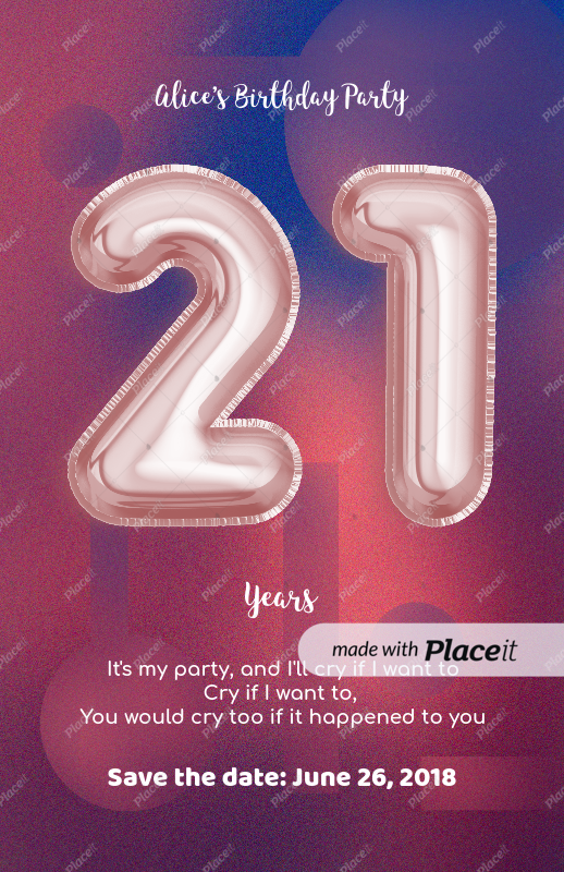 online flyer maker to design a birthday party flyer a225foreground image