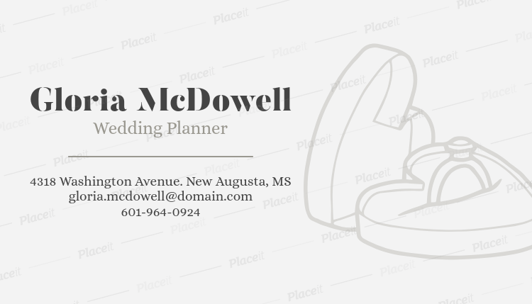 Placeit Stylish Wedding Planner Business Card Maker