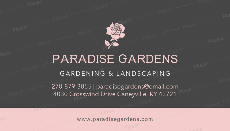 Placeit Gardening And Landscaping Business Card Template