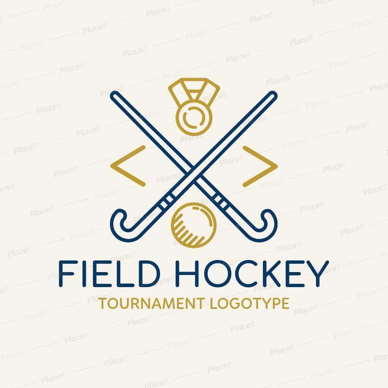 Placeit Field Hockey Logo Maker For A Tournament