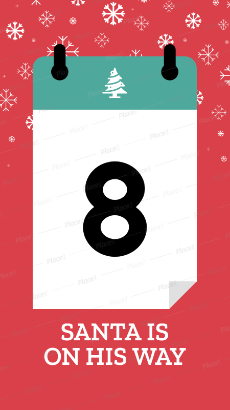 Christmas Countdown.Christmas Countdown Instagram Story Template 1000a