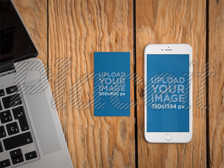 Placeit iphone 6 and business card mockup template iphone 6 and business card mockup template a4650foreground image cheaphphosting Images