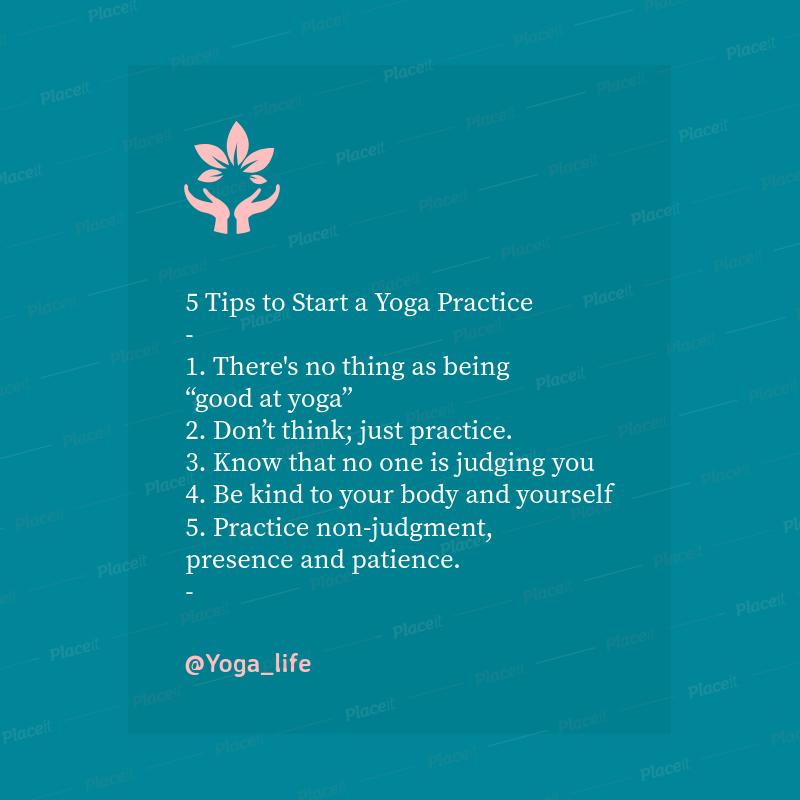 Instagram Post Generator for a Yoga Practice 649d