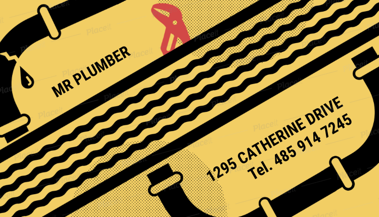 Placeit Plumbing And Heating Business Card Maker