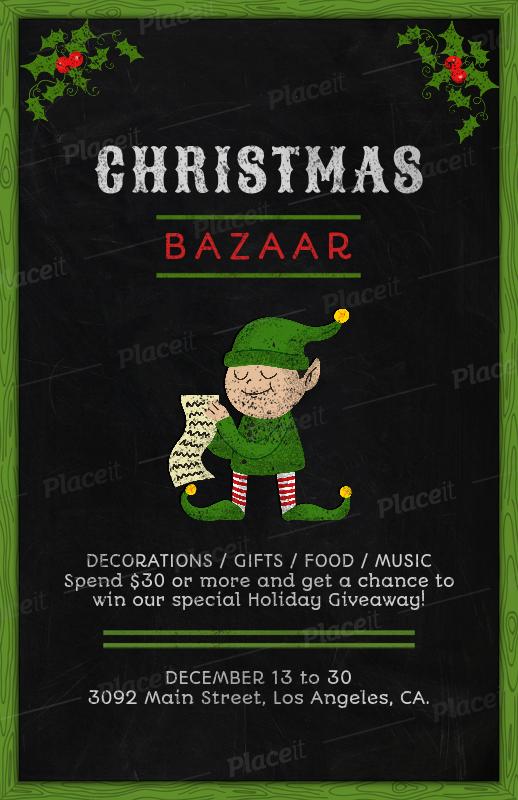 Christmas Giveaway Flyer.Christmas Bazaar Flyer Template 863