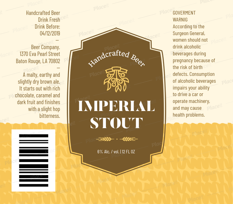 Beer Label Template With Badge 760Foreground Image