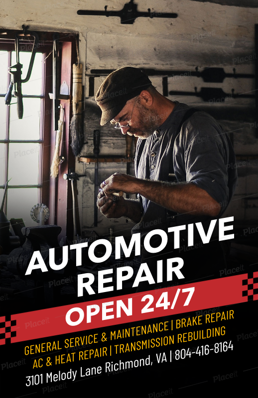 Brake Repair Shops >> Placeit Auto Repair Flyer Maker For Auto Shops