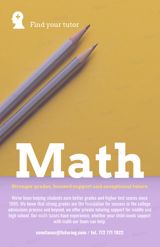 online flyer maker to design tutoring flyers a142foreground image