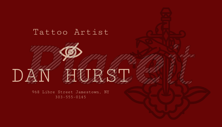 placeit custom business card template for top tattoo artists