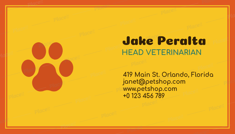 Placeit business card maker with paw print graphics business card maker with paw print graphics 187a foreground image reheart Choice Image