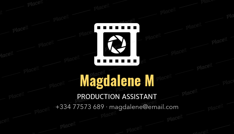Placeit professional business card template for film producers professional business card template for film producers 207bforeground image cheaphphosting Choice Image