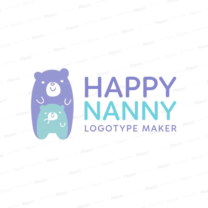babysitting logo maker a1198foreground image