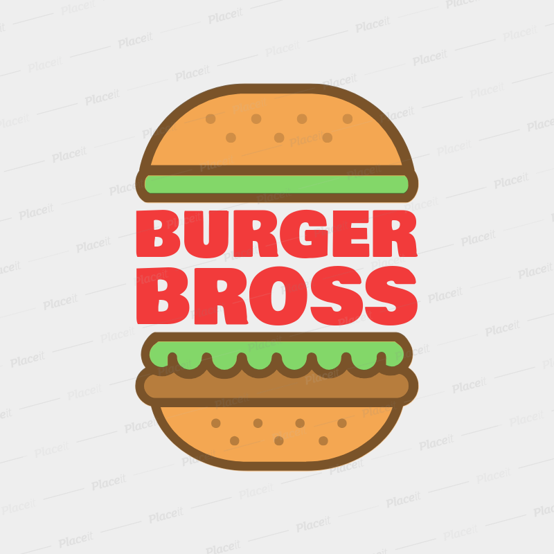 Online Logo Maker for a Burger Joint with Burger Graphics 1233a