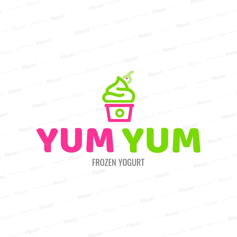 Online Logo Maker Frozen Yogurt Shop a1241