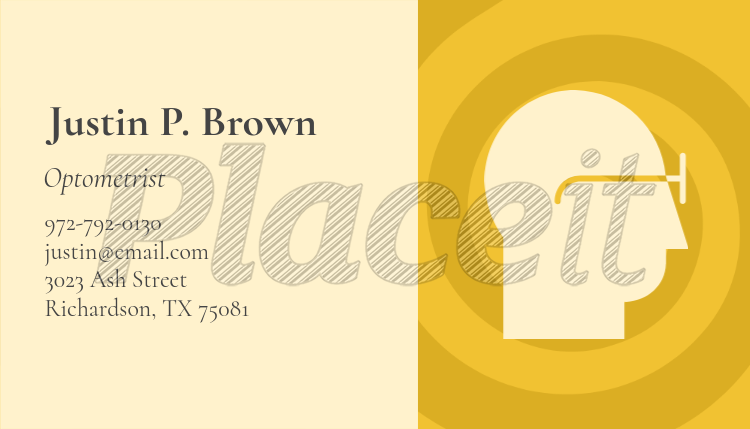 minimalist business card template for optometrists 145dforeground image - Minimalist Business Card