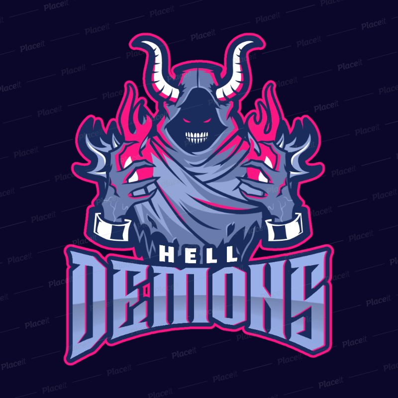 Gaming Logo Maker Featuring an Evil Sorcerer 1749k--2360