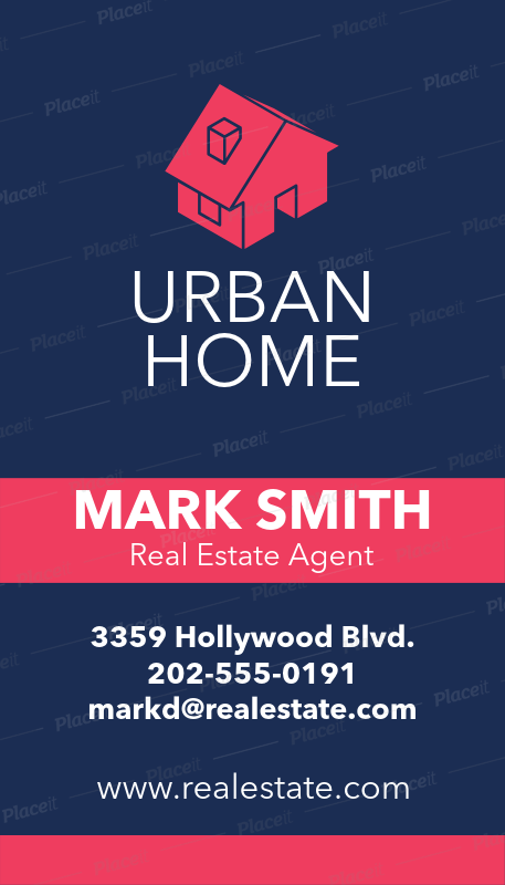 Placeit Online Business Card Template For Luxury Real Estate Agency - Online business card template