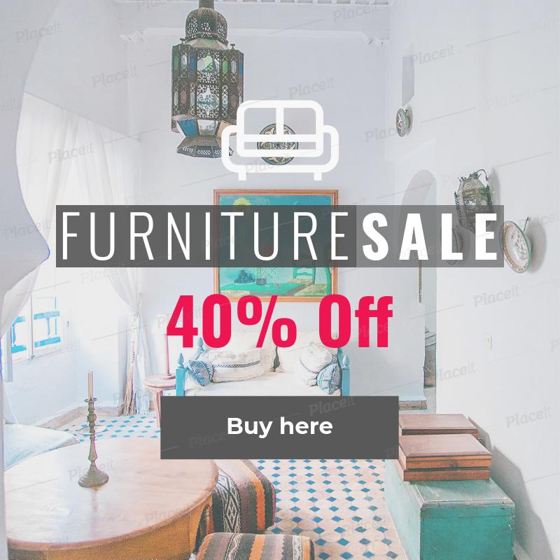 Placeit Online Banner Maker For Furniture Ads
