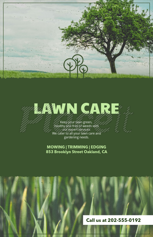lawn care flyer template with customizable titles 125eforeground image