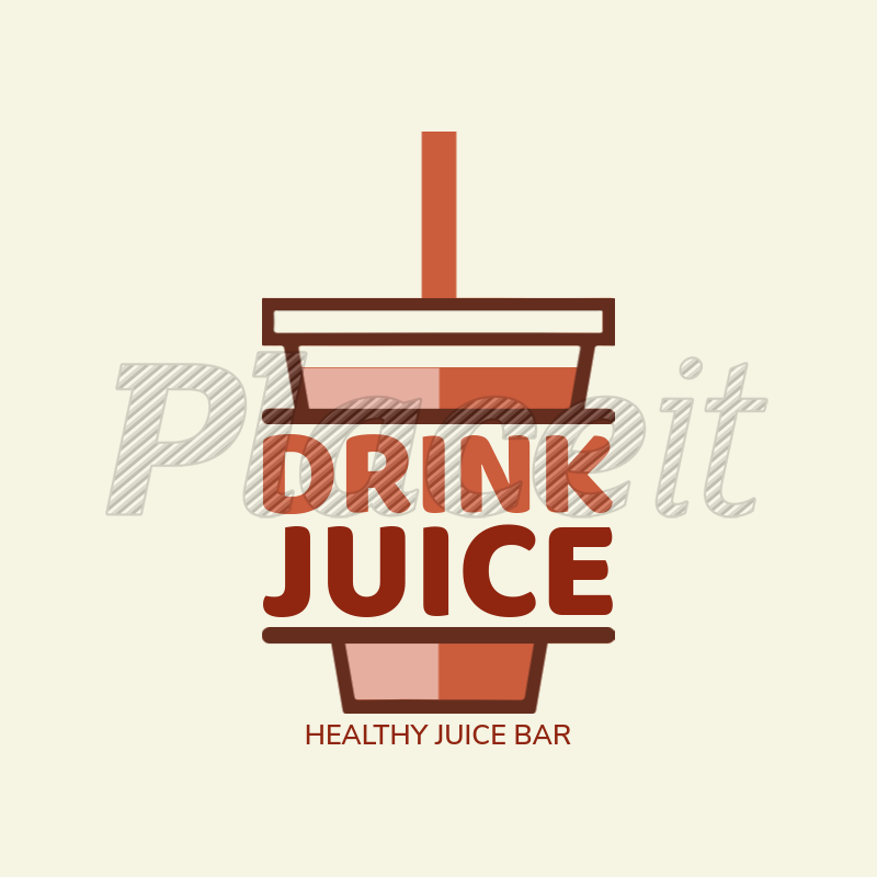 placeit juice bar logo maker with cup icon juice bar logo maker with cup icon 1235f
