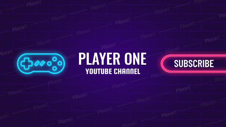 Youtube Gaming Zone Channel Banner Maker 463