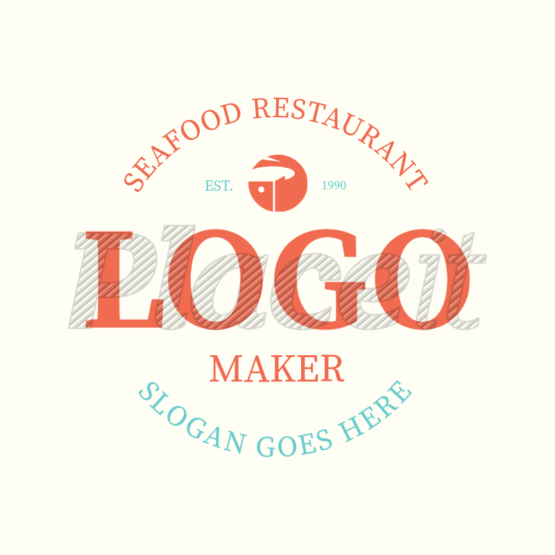 Seafood Logo Maker 991a