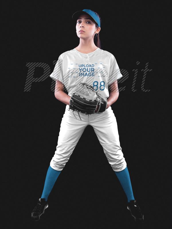 timeless design 2520e 648b9 Custom Softball Jerseys - Girl with Glove a16693