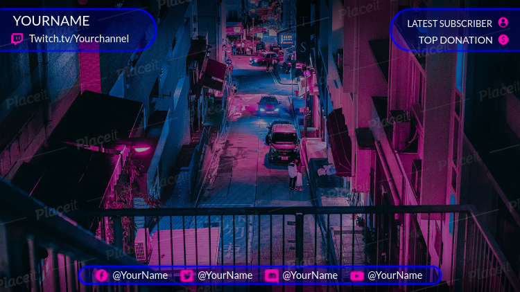 Cool Twitch Overlay Design Template 1068
