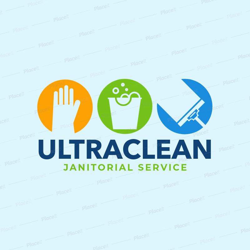 janitorial service logo maker 1456foreground image