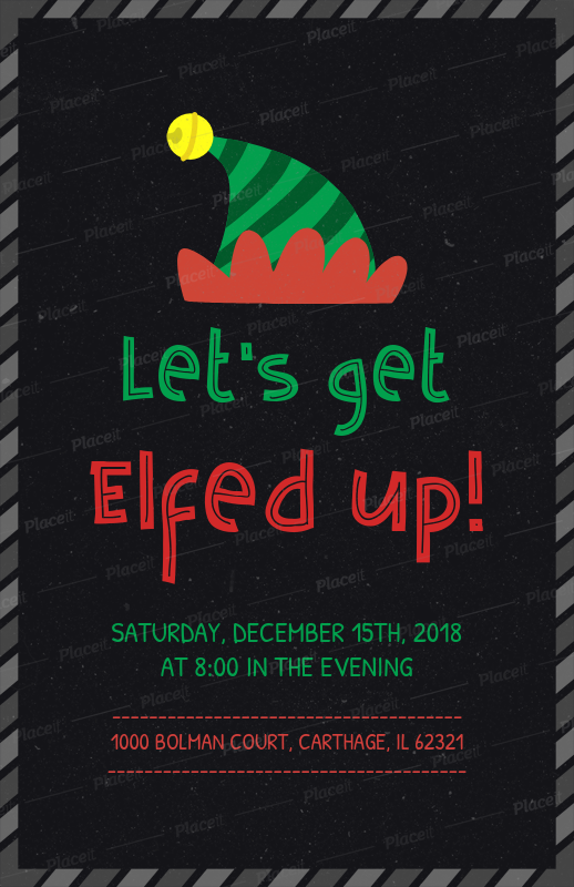 Christmas Party Flyer.Christmas Party Flyer Template With Cool Slogan 843b
