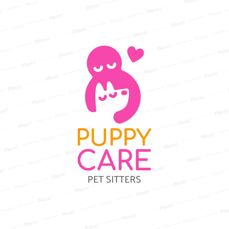 Online Logo Maker for a Pet Sitter Business 1191b