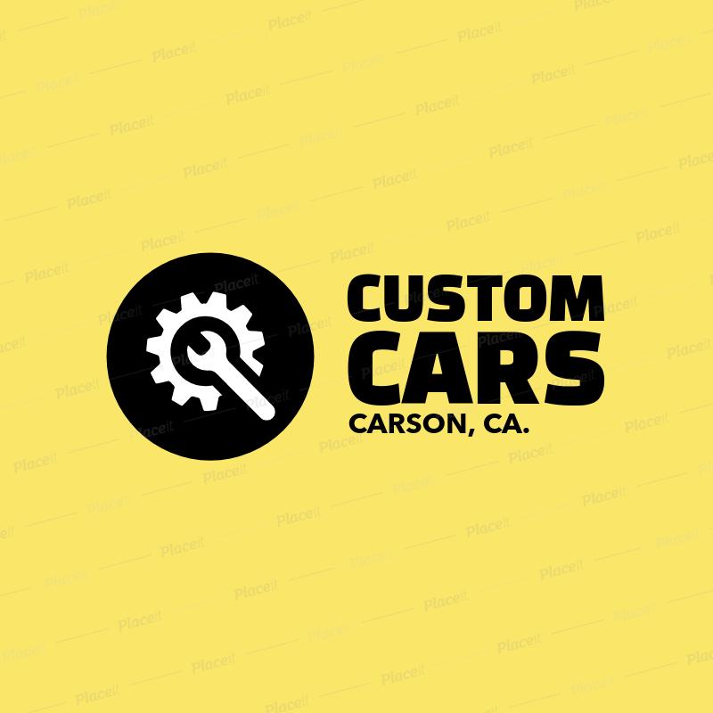 Placeit Logo Template For Custom Car Shop