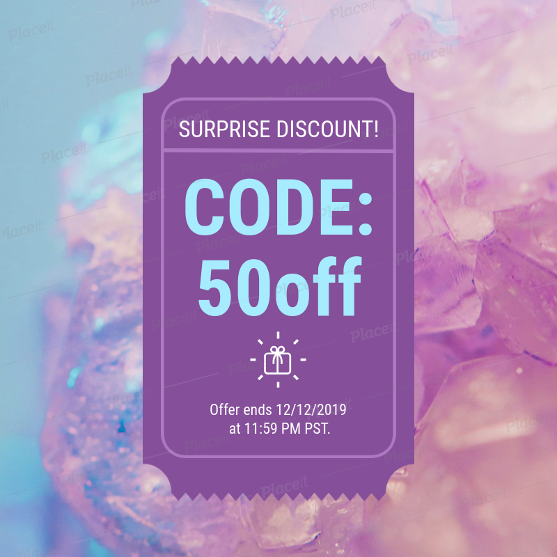 Colorful Coupon Design Maker For Promotional Codes 1023d