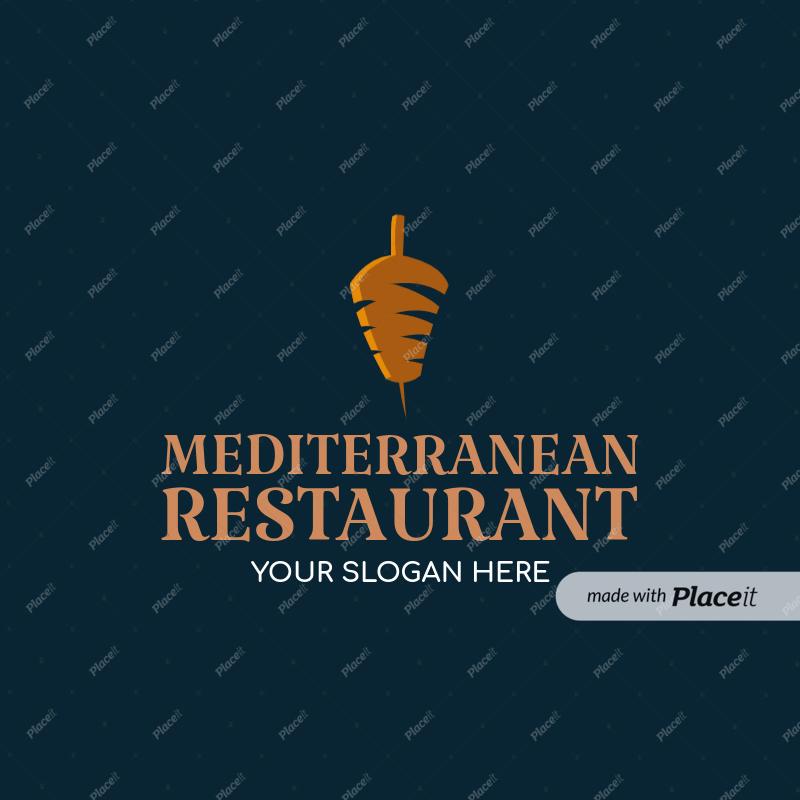 Placeit Restaurant Logo Maker For Mediterranean Restaurants