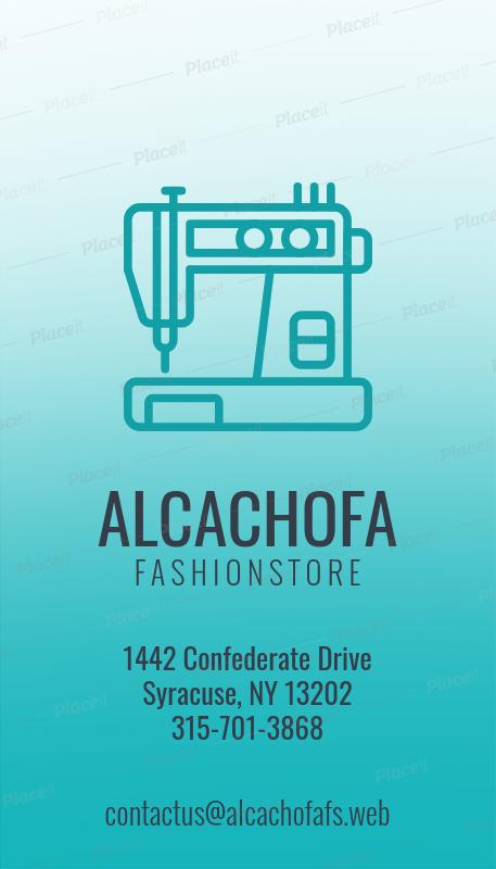 Placeit Vertical Fashion Designer Business Card Maker
