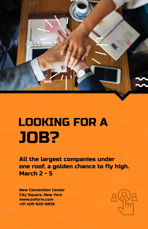 job fair flyer template 713aforeground image