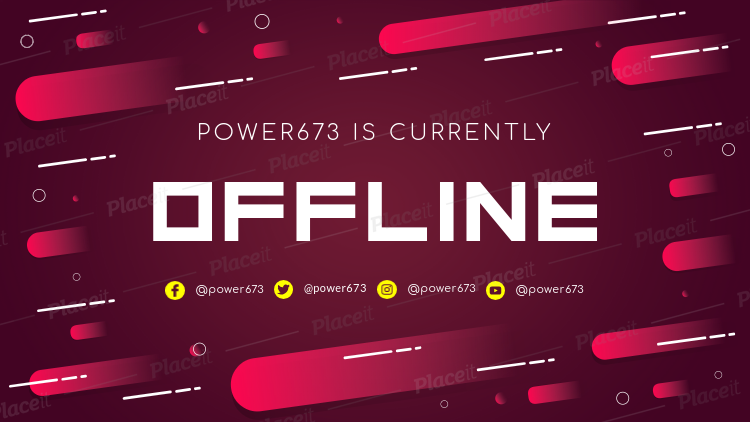Placeit Twitch Offline Banner Design Template With Red Gradients